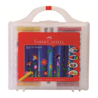 Faber-Castell 油性粉彩條 50色粗芯 手提盒