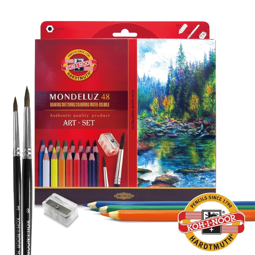 KOH-I-NOOR-3713 捷克頂級專業水溶性色鉛筆紙盒裝-48色