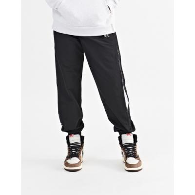 NAVY-側邊拉鍊闊腿風褲-男【A1NA056】
