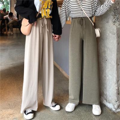初色  針織高腰闊腿褲-共3色-(F可選)