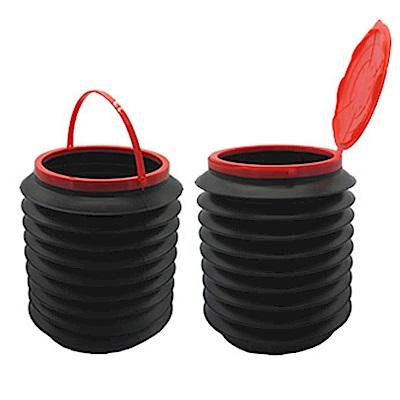 AI004 4L 帶蓋 折疊收納箱 雜物收納筒 摺疊整理箱 水桶 伸縮水桶 伸縮筒 垃圾桶