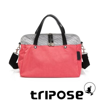 tripose ARTFRICA緹花布手提斜背包 斑馬灰/晨曦紅