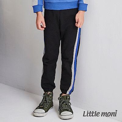 Little moni 直條剪接束口褲(2色可選)