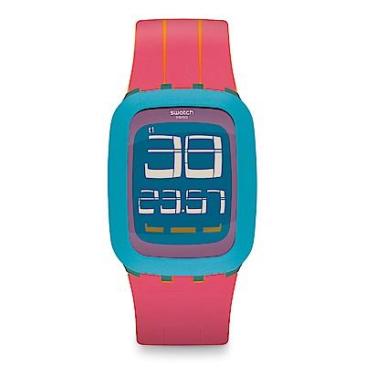 Swatch TOUCH系列 PECHE MELBA 蜜桃雪糕手錶