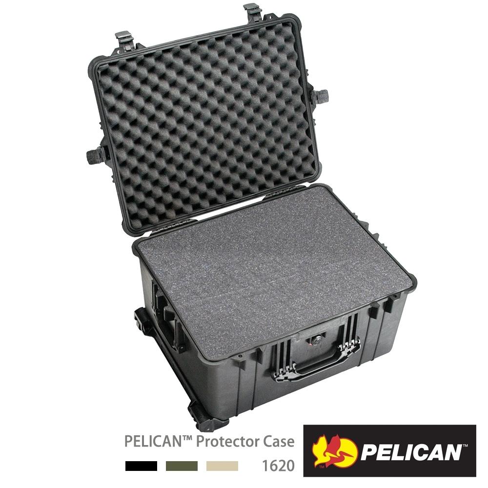 美國 PELICAN 1620 輪座拉桿氣密箱-含泡棉(黑)