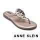 ANNE KLEIN-ALLTHEWAY 經典品牌圖飾 清涼顯瘦夾腳拖鞋-金色 product thumbnail 1