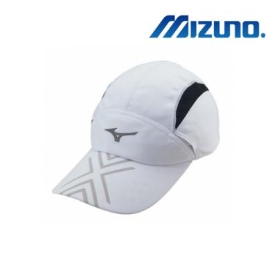 MIZUNO 美津濃 運動路跑帽 白x黑 J2TW950101P