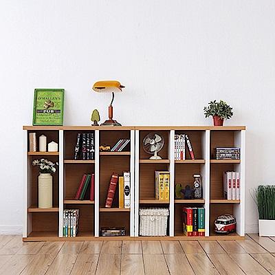 兩入一組《Accessco》日系雙色九格厚板收納書櫃(87x30x90cm)