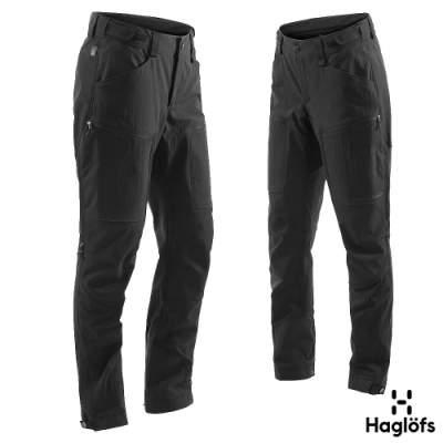 Haglofs 女 Rugged Mountain 耐磨 防水 快乾長褲 黑色