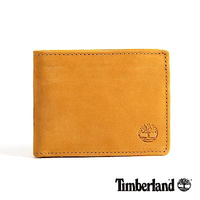 Timberland 男款小麥黃正絨面皮革多夾層短夾 D1250