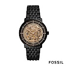 FOSSIL CHASE 黑色不鏽鋼透視機械男錶