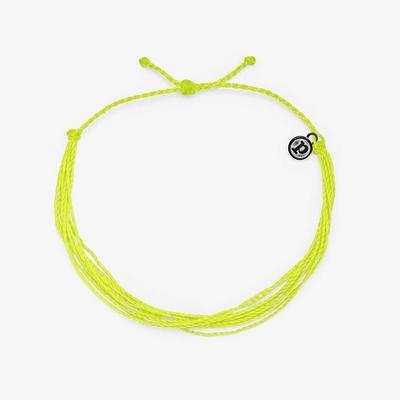 Pura Vida 美國手工 NEON YELLOW 霓虹黃色 基本繽紛款可調式腳鍊