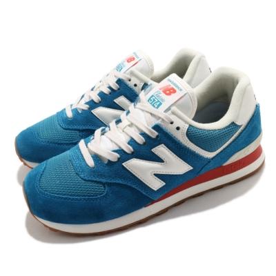New Balance 休閒鞋 574 Rainbow Pack 男女鞋 紐巴倫 基本款 簡約 麂皮 情侶穿搭 藍 白 ML574HC2D