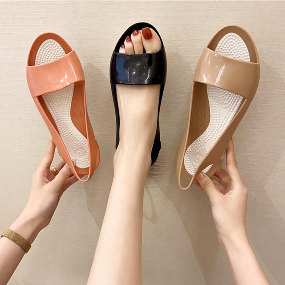 KEITH-WILL時尚鞋館-獨賣閃耀厚底涼鞋(涼鞋/涼跟鞋)(共3色) (卡其色)