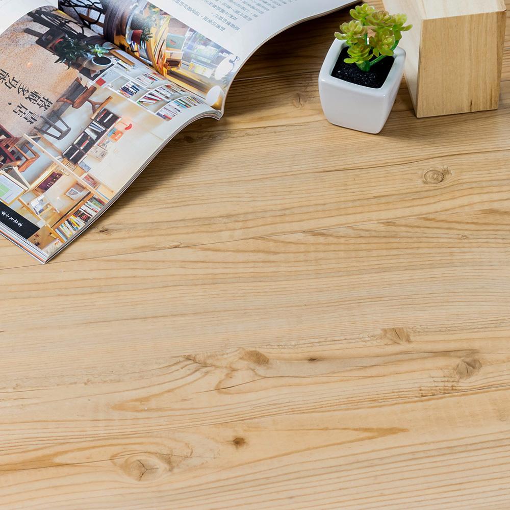 樂嫚妮 (160片)DIY塑膠PVC仿木紋DIY地板貼 6.9坪 椿木-贈壁貼