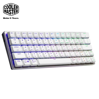 Cooler Master SK622 藍芽矮軸RGB機械式鍵盤 白色青軸(英刻)