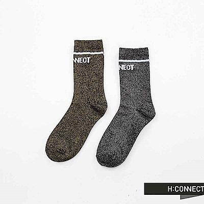 H:CONNECT 韓國品牌 ~亮眼混織LOGO長襪~黑