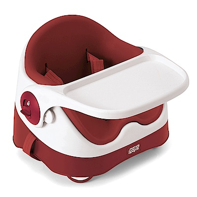 【Mamas & Papas】三合一都可椅/餐椅含玩樂盤-石榴紅