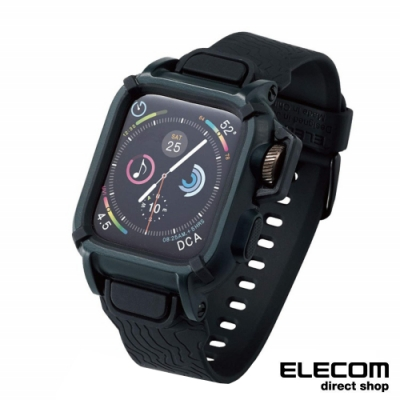 ELECOM Apple Watch 44mm NESTOUT全套錶帶-黑