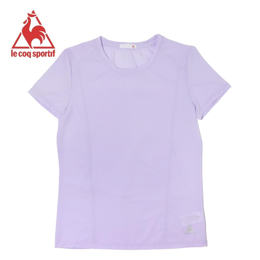 le coq sportif 法國公雞牌亮色吸溼排汗薄款運動短袖T恤 女-淡紫