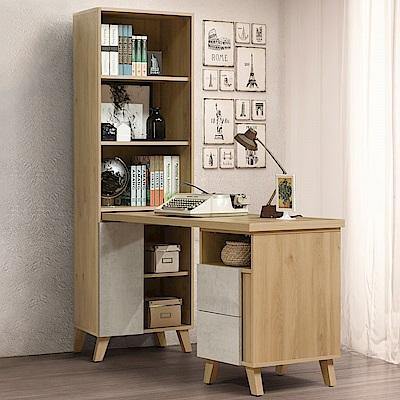Homelike 蜜雪兒5尺L型組合書桌櫃-152x61x181cm