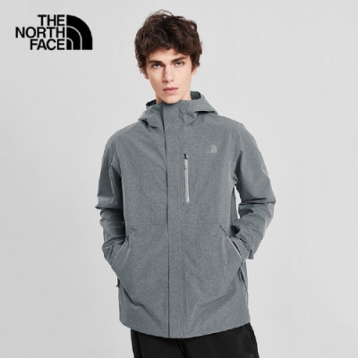 The North Face 男 防水透氣衝鋒衣 灰-NF0A46LBDYY