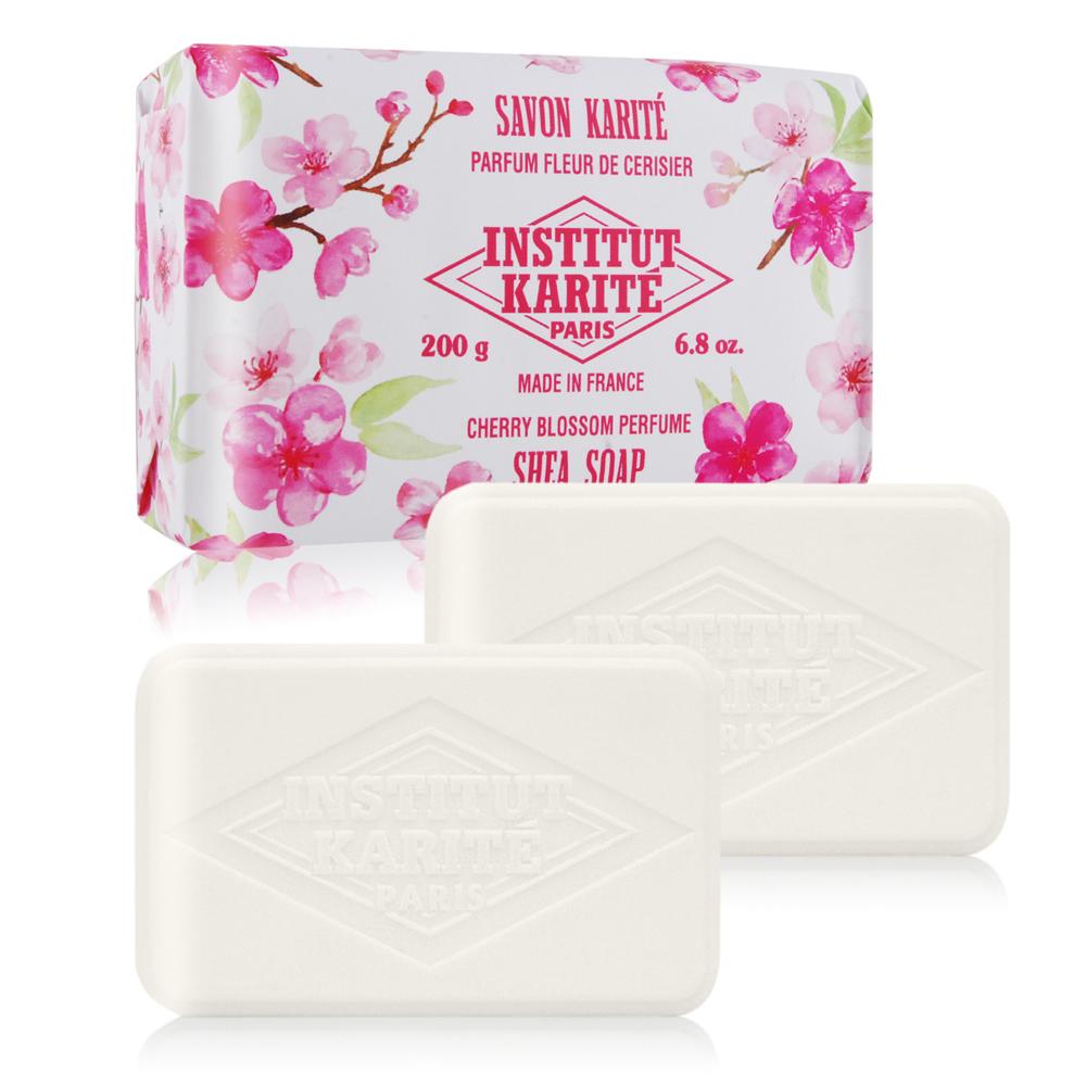 Institut Karite Paris 巴黎乳油木 櫻花花園香氛手工皂200gX2