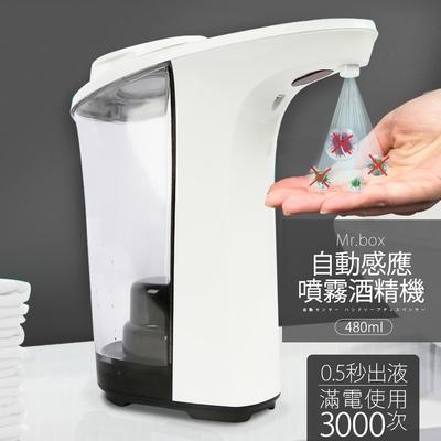 Mr.Box 紅外線全自動感應酒精專用殺菌淨手噴霧機 480ml(1入)