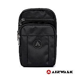 【AIRWALK】自由無限休閒斜側包-黑色