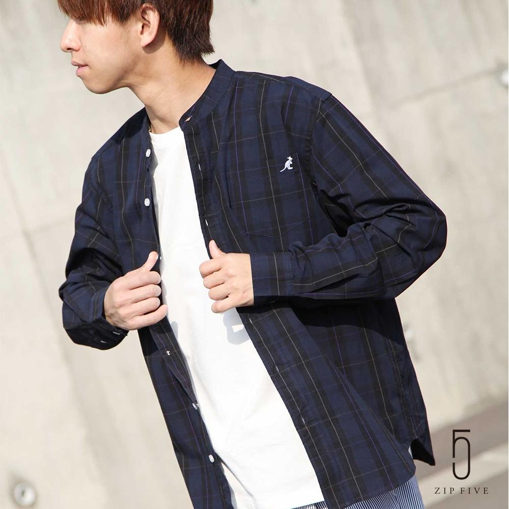 ZIP日本男裝 KANGOL聯名款立領襯衫(12色)