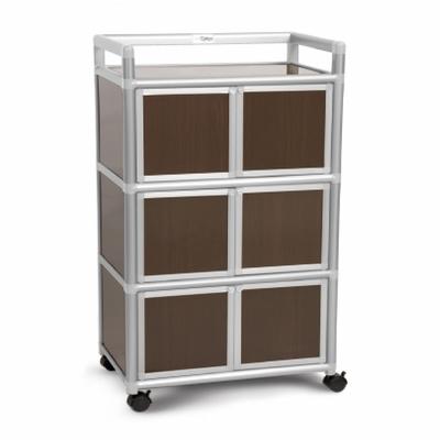 Cabini小飛象-黑桃木2.0尺鋁合金6門收納櫃64.7x50.8x115.3cm