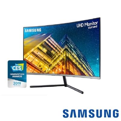[無卡分期12期] SAMSUNG U32R590CWC 32吋 4K量子點曲面螢幕