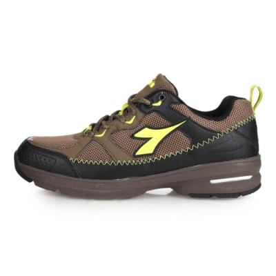 DIADORA 男戶外跑鞋-登山鞋 爬山 慢跑 路跑 寬楦 棕黑綠