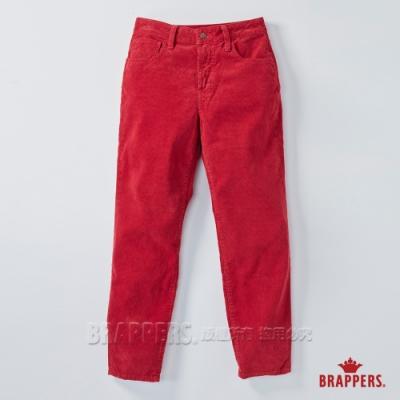 BRAPPERS 女款 Boy friend系列-中高腰條絨直筒褲-紅