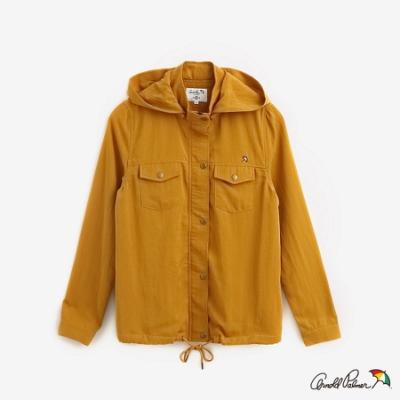 Arnold Palmer-女裝-棉麻混紡下擺抽繩外套-黃