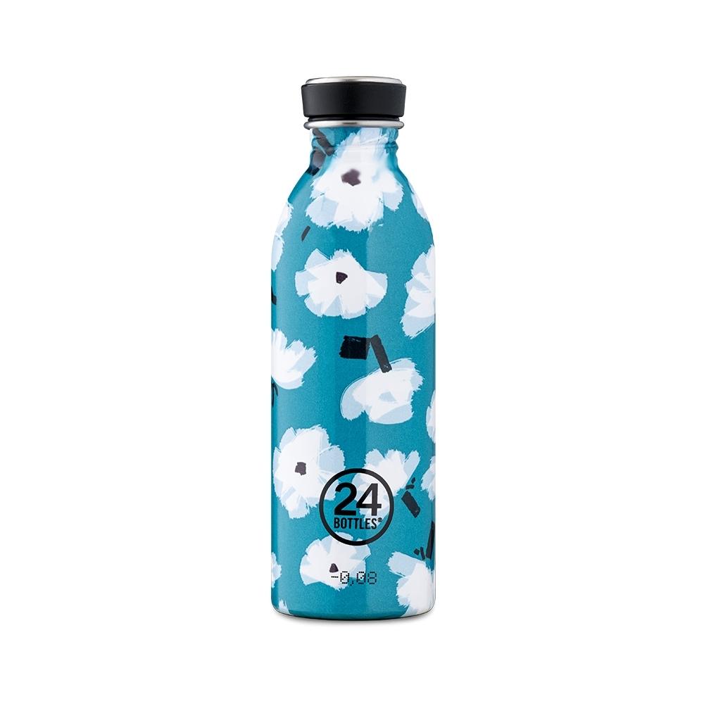 義大利24Bottles 輕量冷水瓶 500ml -花朵雲