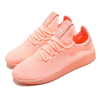 adidas 休閒鞋 PW Tennis HU 襪套式 女鞋 海外限定 愛迪達 三葉草 穿搭推薦 粉 橘 D96551