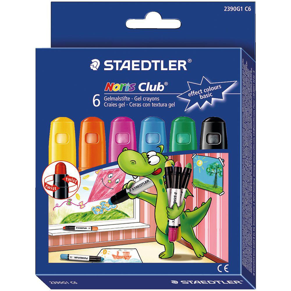 JAKO-O 德國野酷 德國STAEDTLER 玻璃彩繪筆–基本色系6色