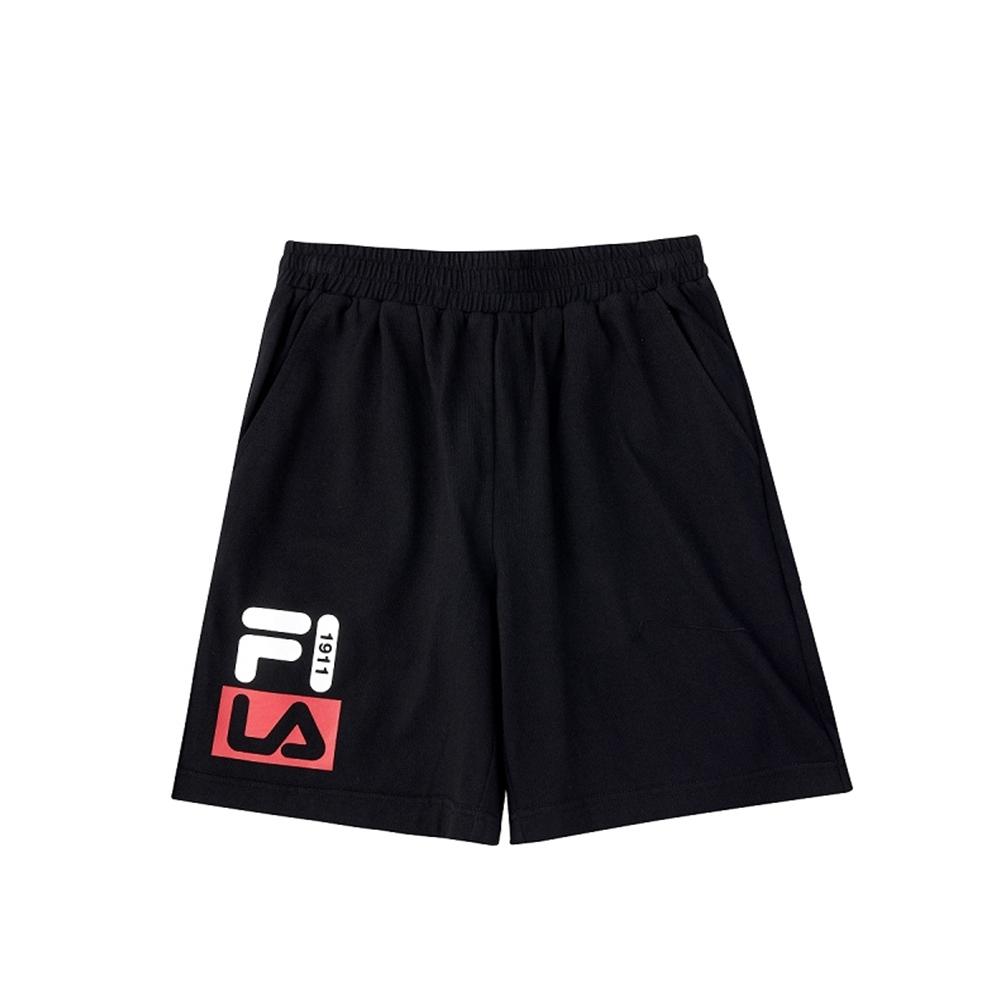 FILA KIDS 童針織5分褲-黑 1SHV-4903-BK