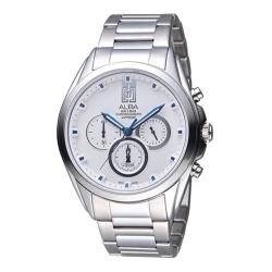 ALBA 雅柏 東京日系三眼計時腕錶(VD53-X264S/AT3B09X1)