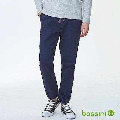 bossini男裝-磨毛保暖束口褲01海軍藍