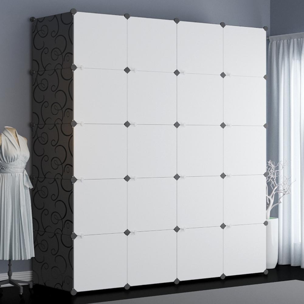 Mr.box 加大型20格20門收納櫃/置物櫃/書櫃 (黑白款)