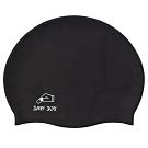 聖手牌 泳帽 防滑透氣黑色矽膠泳帽