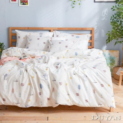 DUYAN竹漾 MIT 天絲絨-單人床包被套三件組-森林小夥伴