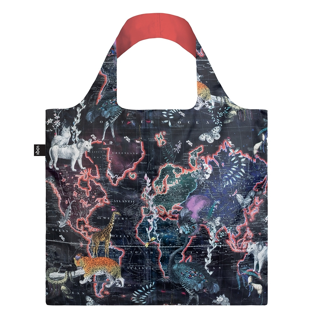 LOQI 春捲包 購物袋  世界地圖 KWWM