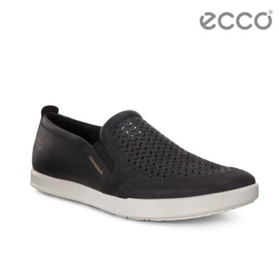ECCO COLLIN 2.0 時尚透氣套入式休閒鞋 男-黑