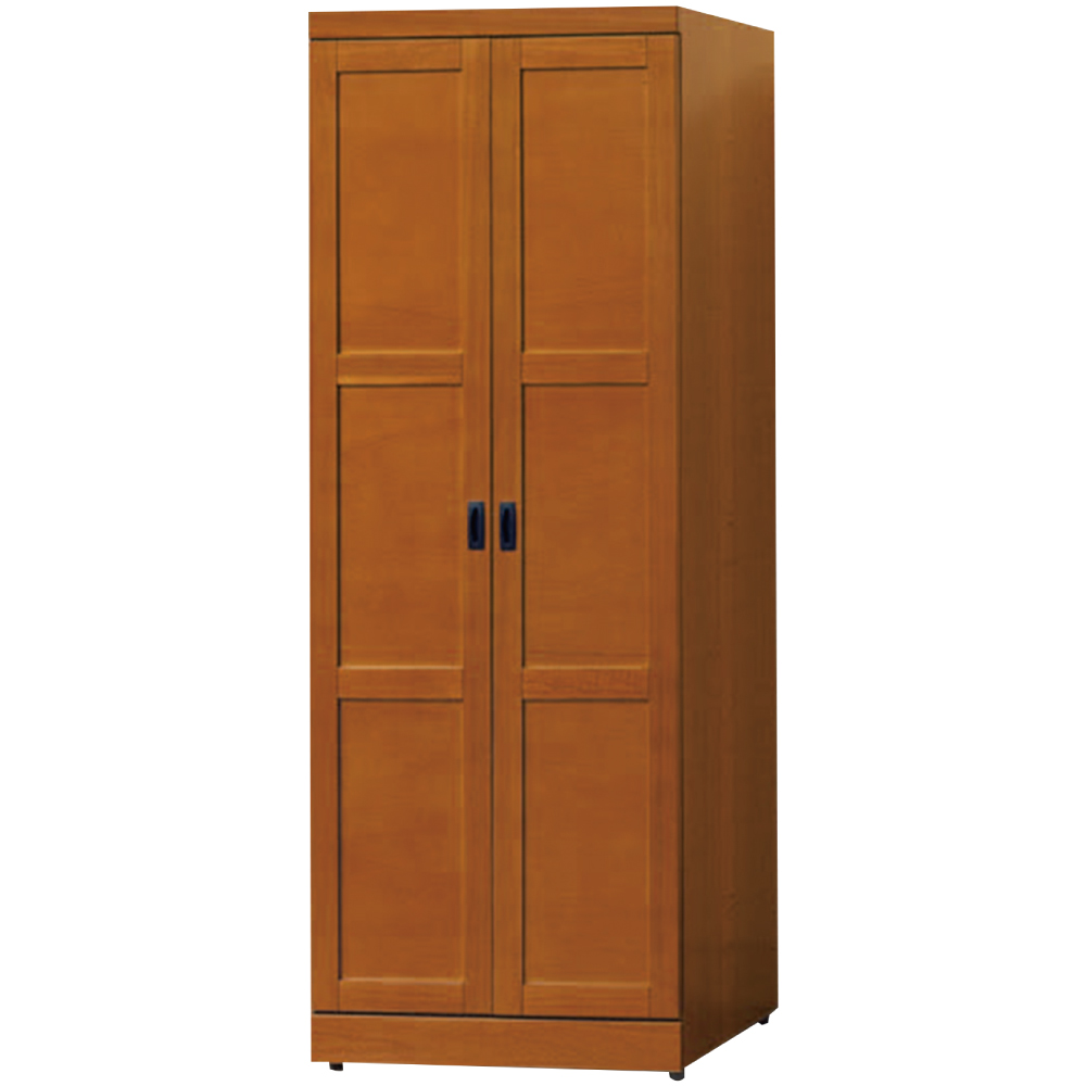 綠活居 克芙利時尚2.5尺實木雙吊衣櫃/收納櫃-76x57x203cm免組