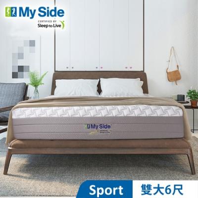 美國 My Side Sport 獨立筒 彈簧床墊-雙大6尺