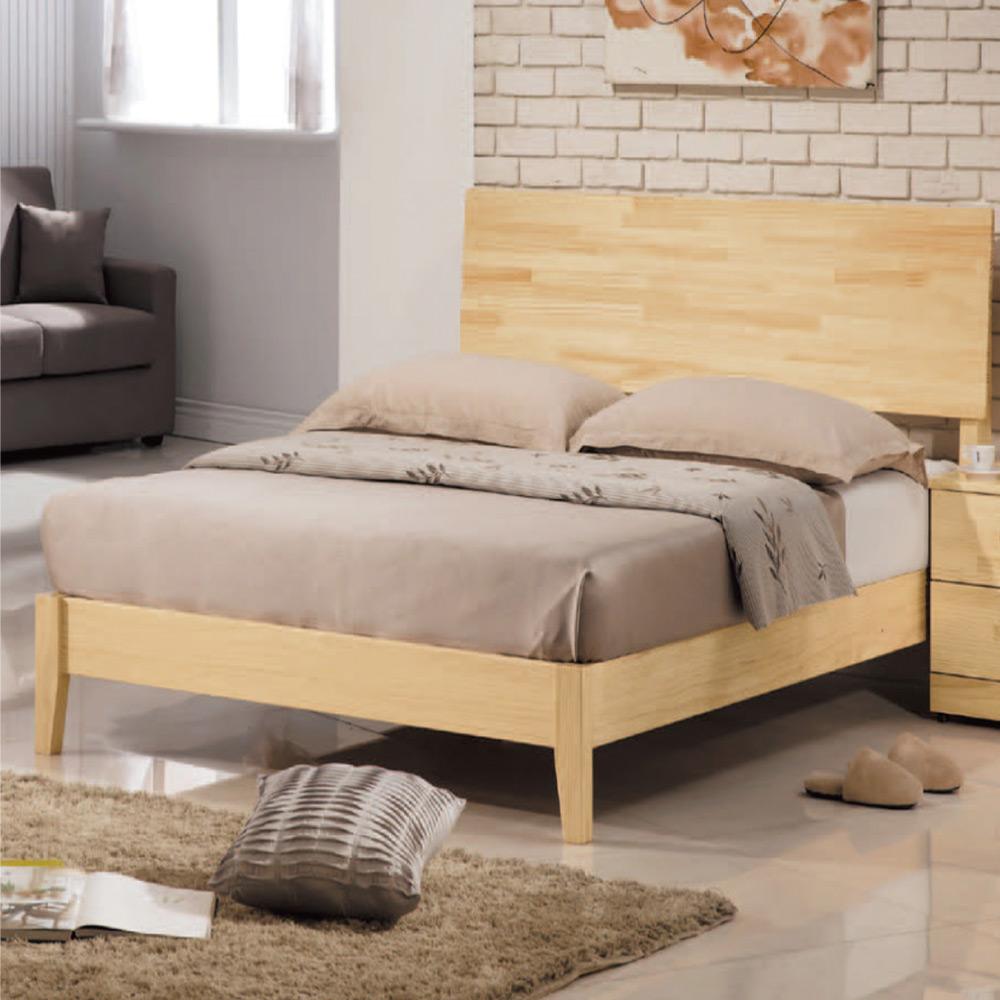 綠活居 卡斯3.5尺實木單人床台(不含床墊+二色)-112x202x100cm免組