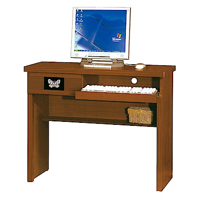綠活居 莉莉娜時尚2.6尺木紋書桌/電腦桌(二色可選)-78x42x75cm-免組